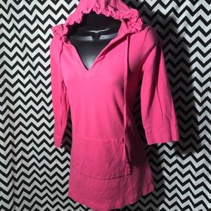 J. Crew pink tunic hoodie sz S